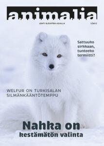 Animalia-lehti 1/2017 kansi