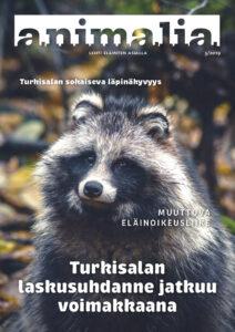Supikoira Animalia-lehden vuoden 2019 kolmannen numeron kannessa