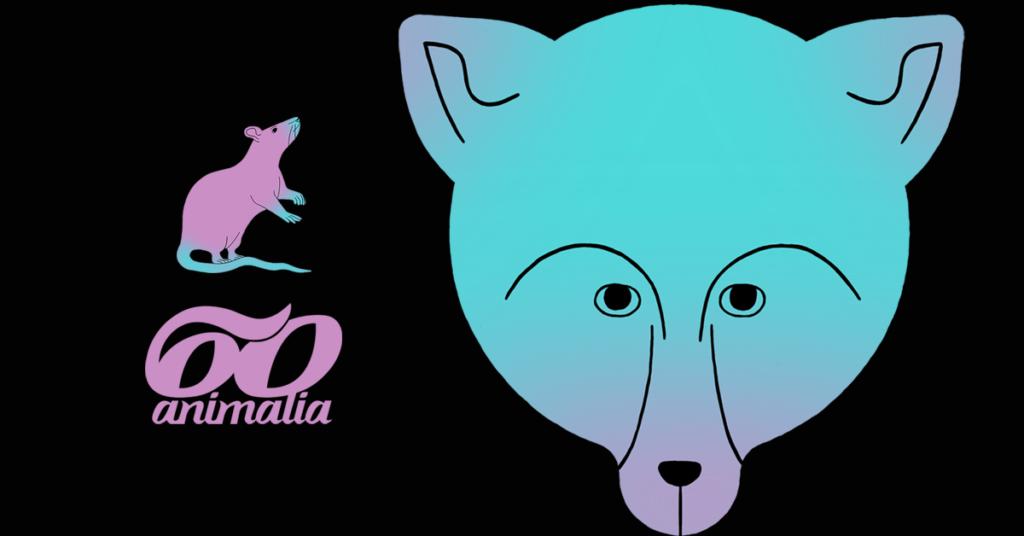 Animalian juhlavuoden logo ja hahmoja. Suunnittelija Anni Sairio.